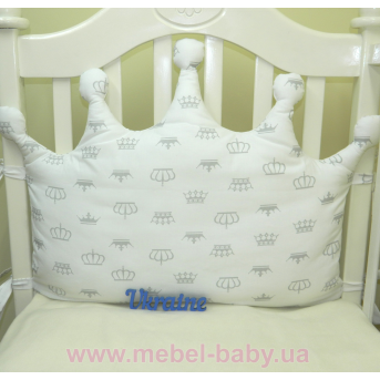 Бортики подушки в кроватку, Подушка Корона - 01 Sindbaby