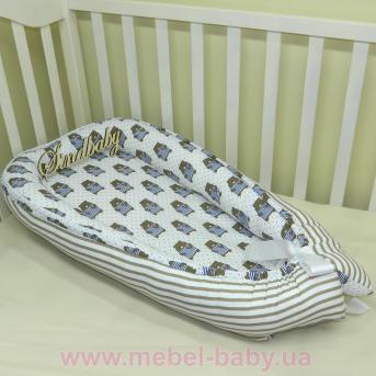 Гнездышко кокон позиционер для новорожденного BabyNest - 08 Sindbaby