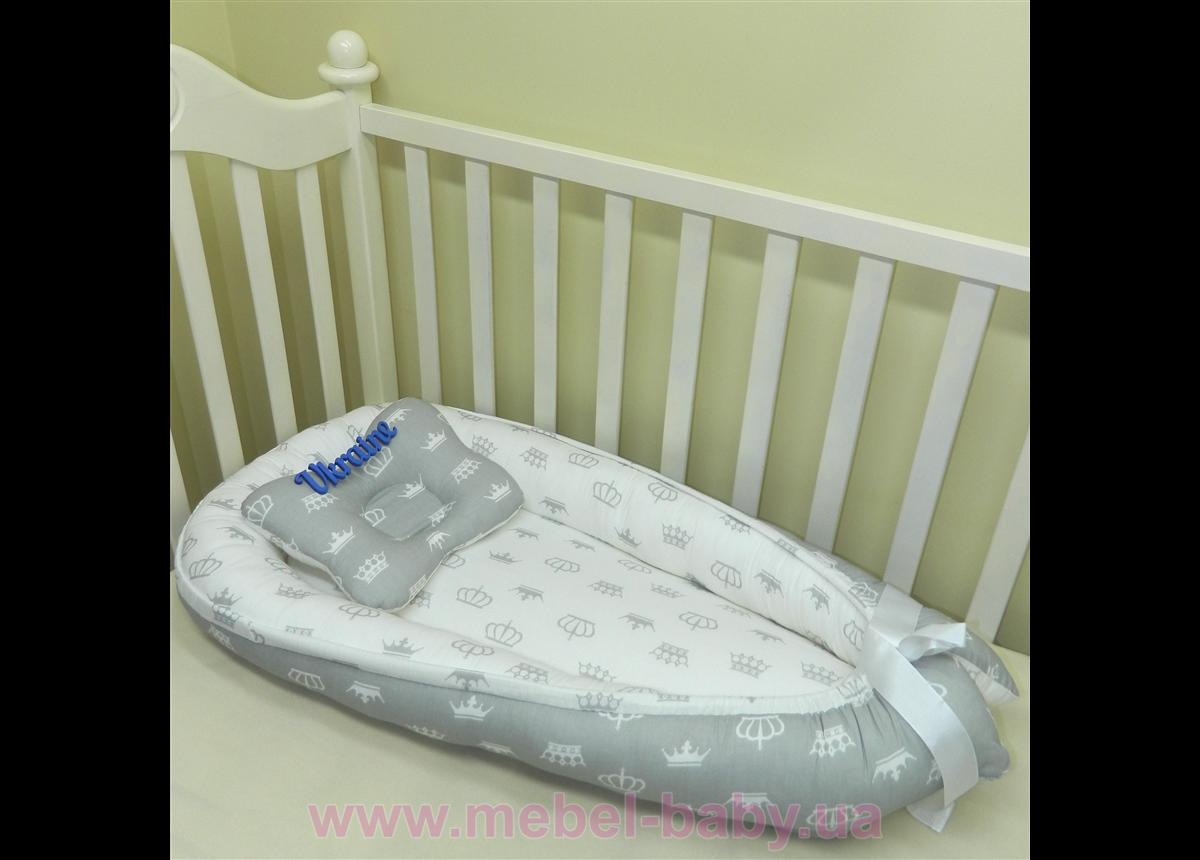 Гнездышко кокон позиционер для новорожденного BabyNest - 10 Sindbaby