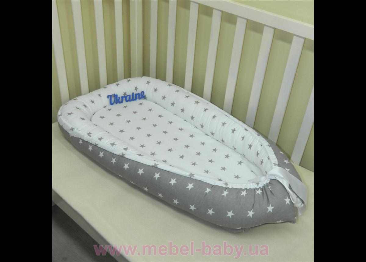 Гнездышко кокон позиционер для новорожденного BabyNest - 12 Sindbaby