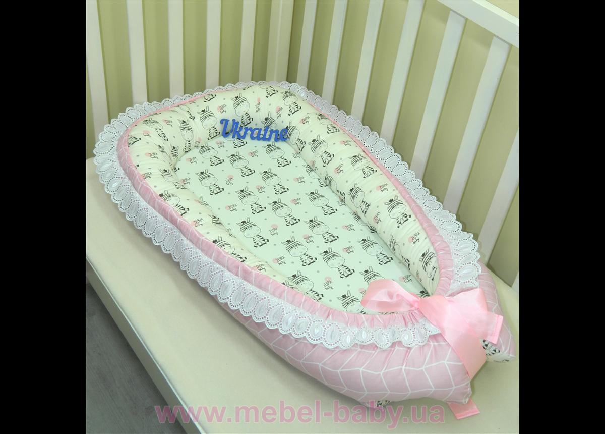 Гнездышко кокон позиционер для новорожденного BabyNest - 16 сатин Sindbaby