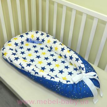 Гнездышко кокон позиционер для новорожденного BabyNest - 17 сатин Sindbaby