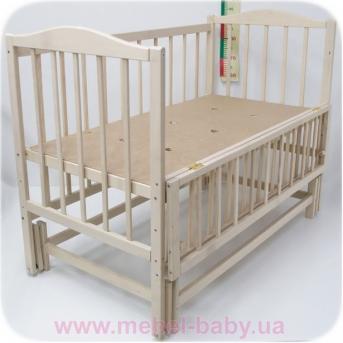 Не качающаяся кроватка для новорожденных Жасмин 1 СлавКа 60x120 граб