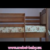 Двухъярусная кровать Ева (с ящиками) Венгер 80х190 Тонировка Дерево