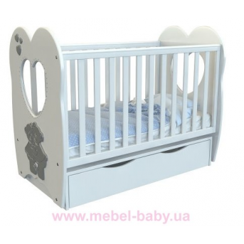 Кроватка детская LUX3 МДФ оргсекло Angelo 1200x600 крем