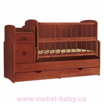 Кроватка-трансформер для новорожденных Колисковий Свiт 60х120 Яблоня
