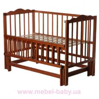 Кроватки с маятниковым механизмом поперечного качания  (Анастасия 2) Кузя 60x120 Орех