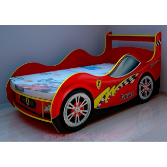 Кровать машина спорт 380-1 без подъемного механизма с матрасом 12 см.