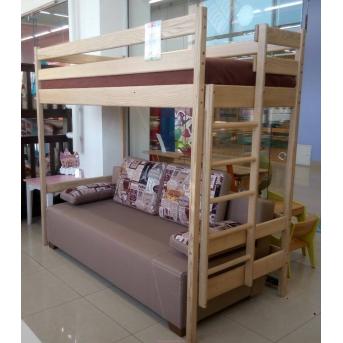Кровать-чердак с диваном Mebel-Baby