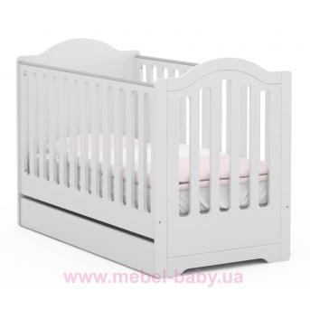 Не качающаяся кроватка для новорожденных 5018_Детская кроватка RE 140 Boho 70x140 Meblik Белый