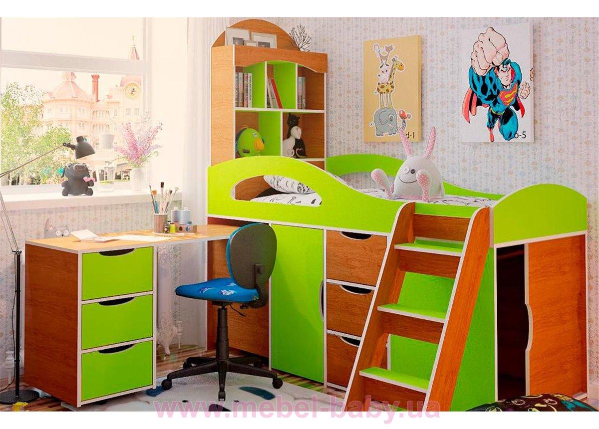 Кровать-чердак со столом 2-1 80x170 (101)