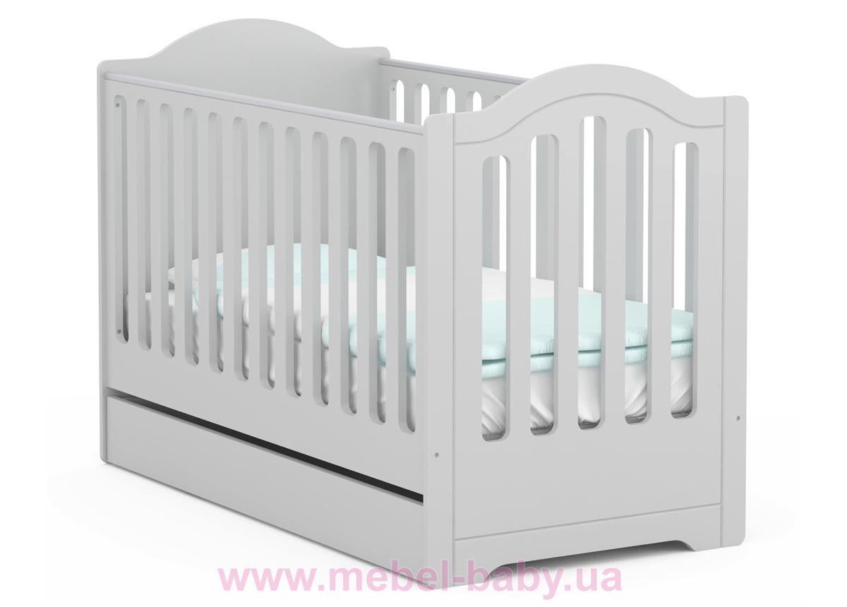 Не качающаяся кроватка для новорожденных 5018_Детская кроватка RE 140 Royal Grey 70x140 Meblik Белый