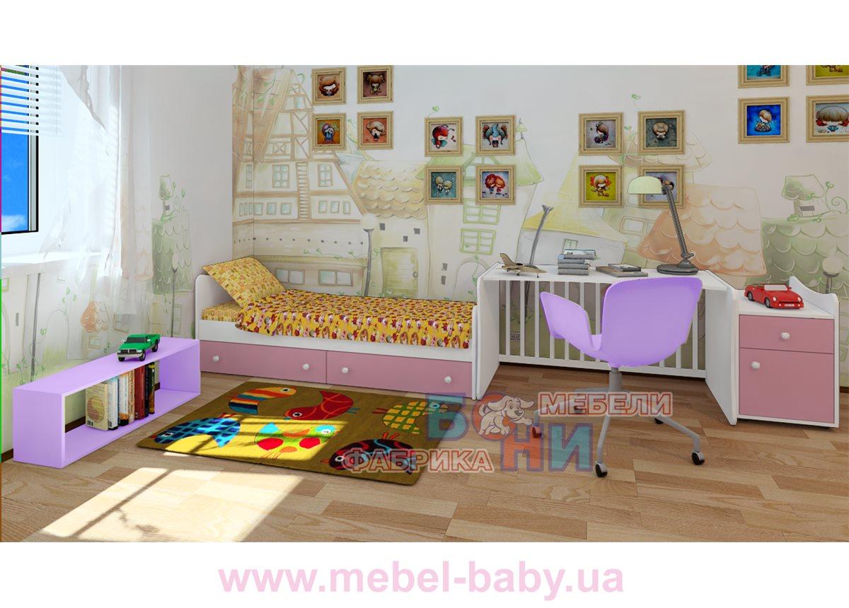 """Кроватка-трансформер """"Классик""""  Бони-Мебель  60x120"""