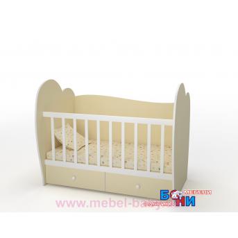 """Не качающаяся кроватка для новорожденных """"Лора""""  Бони-Мебель  60x120"""