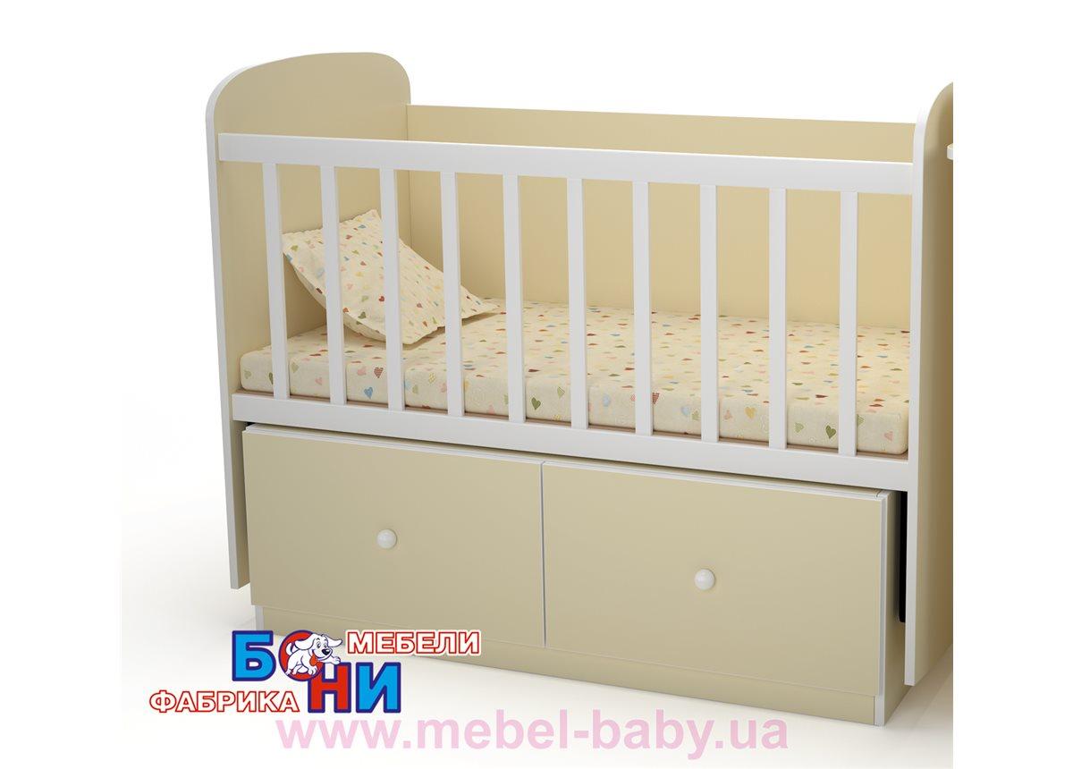 """Качающаяся кроватка для новорожденных """"Кроха"""" Бони-Мебель  60x120"""