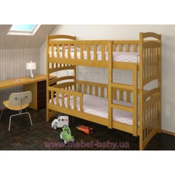 Двухъярусная кровать Белоснежка Плюс Дримка 80x190 Дерево