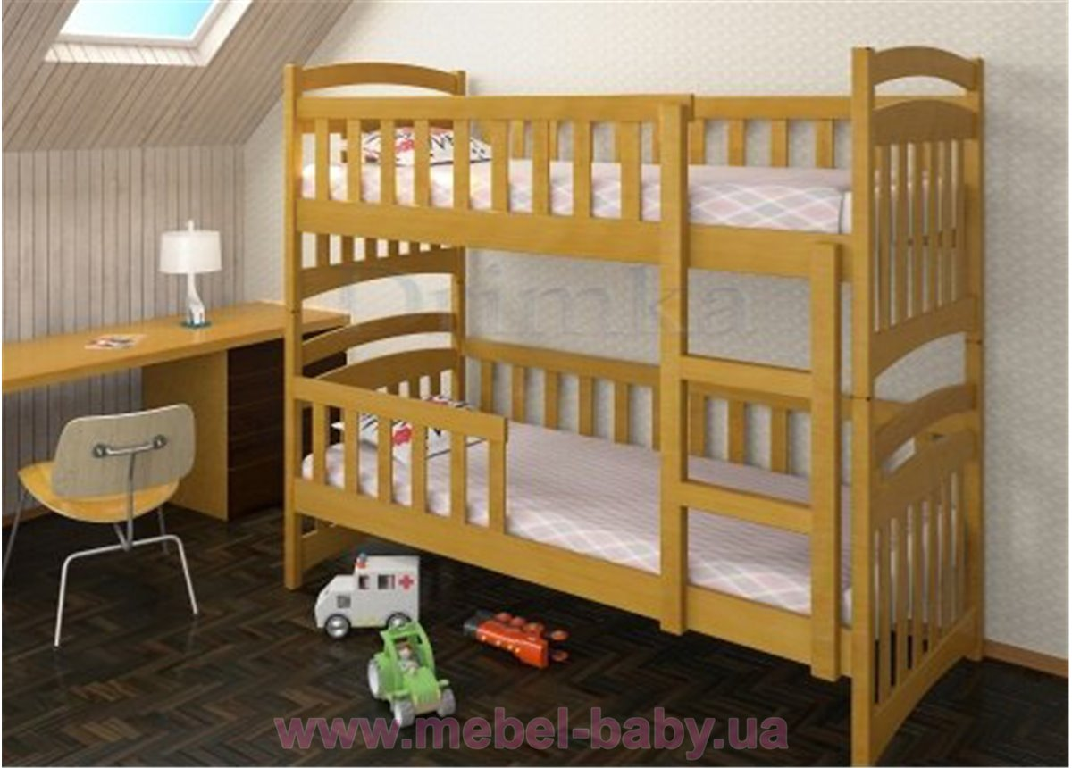 Двухъярусная кровать Белоснежка Плюс Дримка 80x200 Дерево