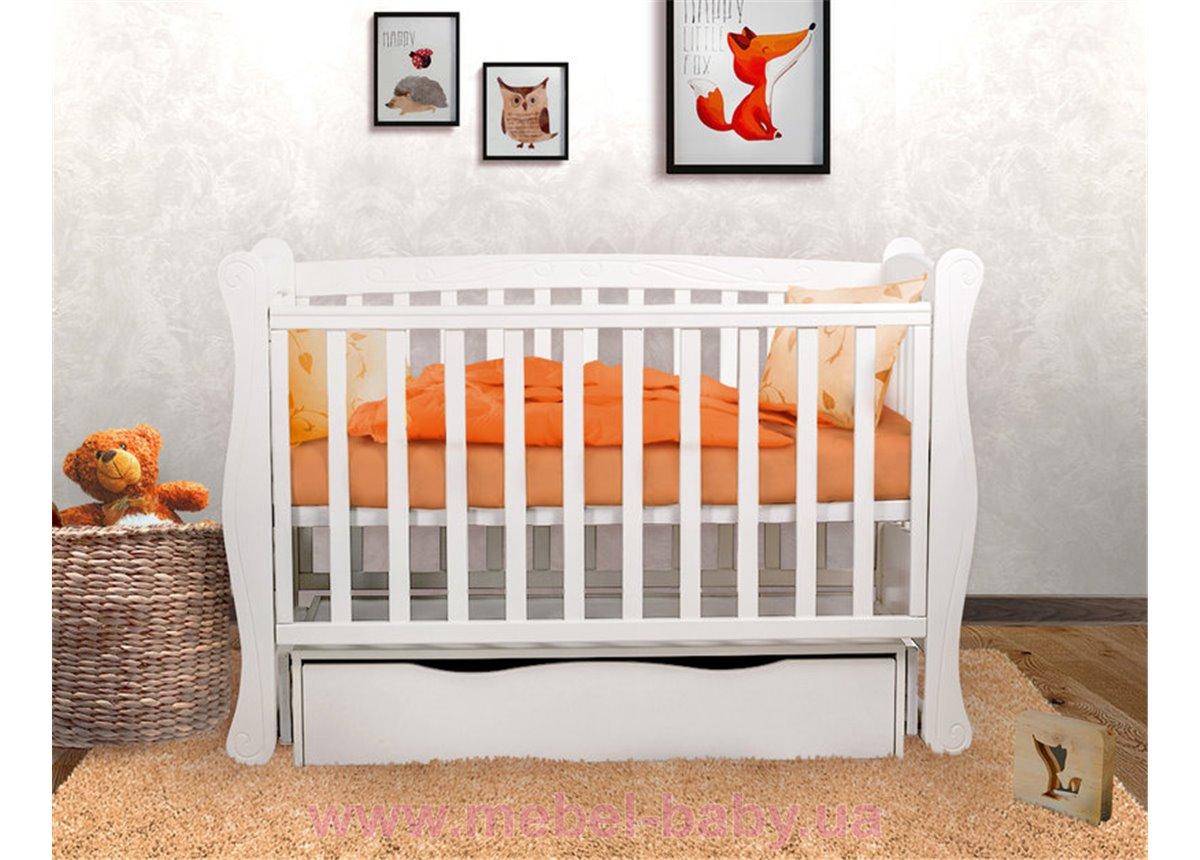 Кроватка детская LUX1 Angelo 1200x600 белый
