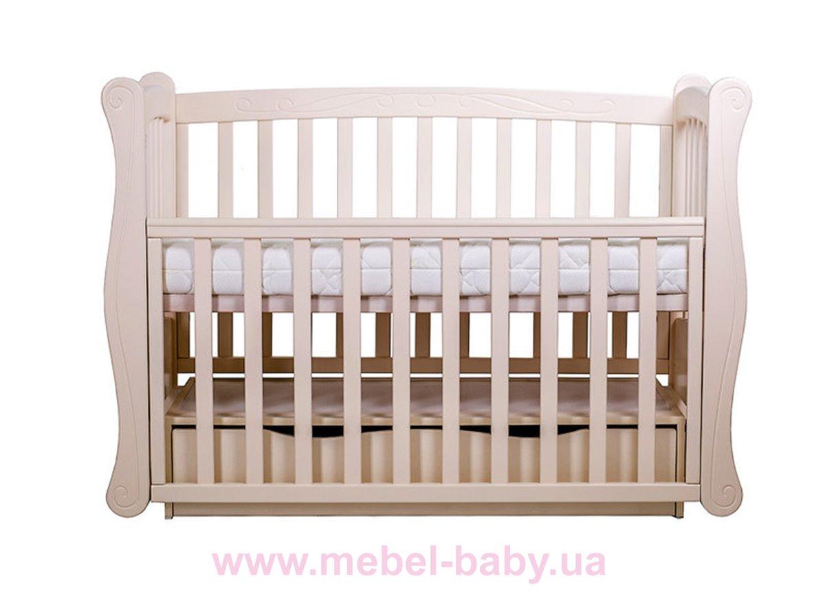 Кроватка детская LUX1 Angelo 1200x600  крем