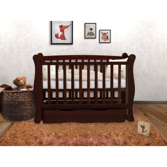 Кроватка детская LUX1 Angelo 1200x600  орех