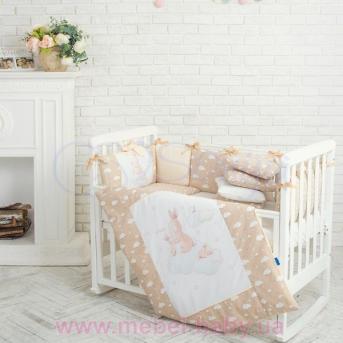 Набор постельного белья Akvarel Бежевые зайки (6 предметов) Маленькая Соня
