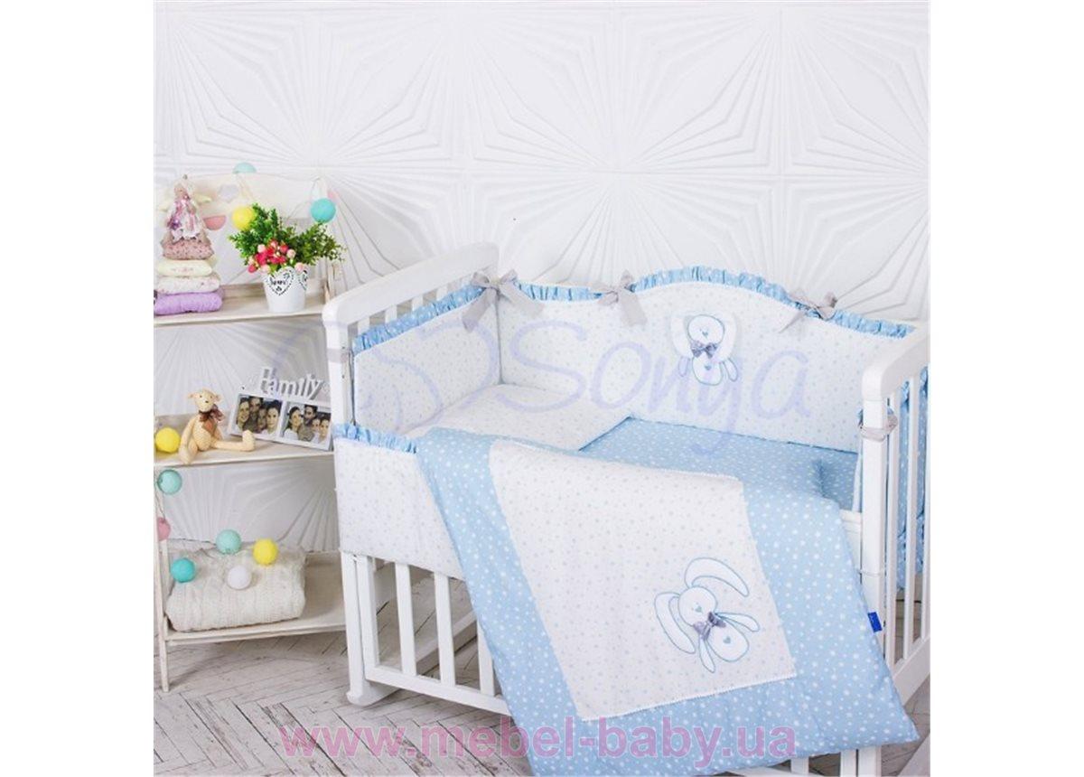 Набор постельного белья Lucky star голубой (6 предметов) Маленькая Соня