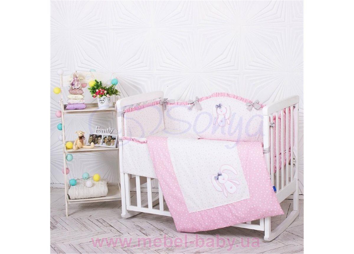 Набор постельного белья Lucky star розовый (6 предметов) Маленькая Соня