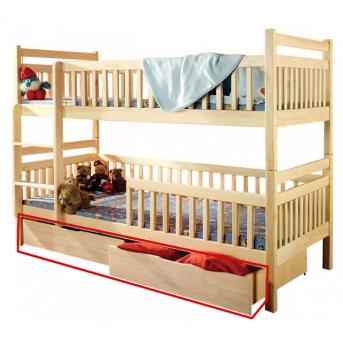 Ящики к двухъярусной кровати Белоснежка Дримка корпус массив бука и фасад массив бука