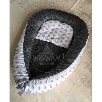 Кокон 001 Черный / белый BABYHOUSE 70x37