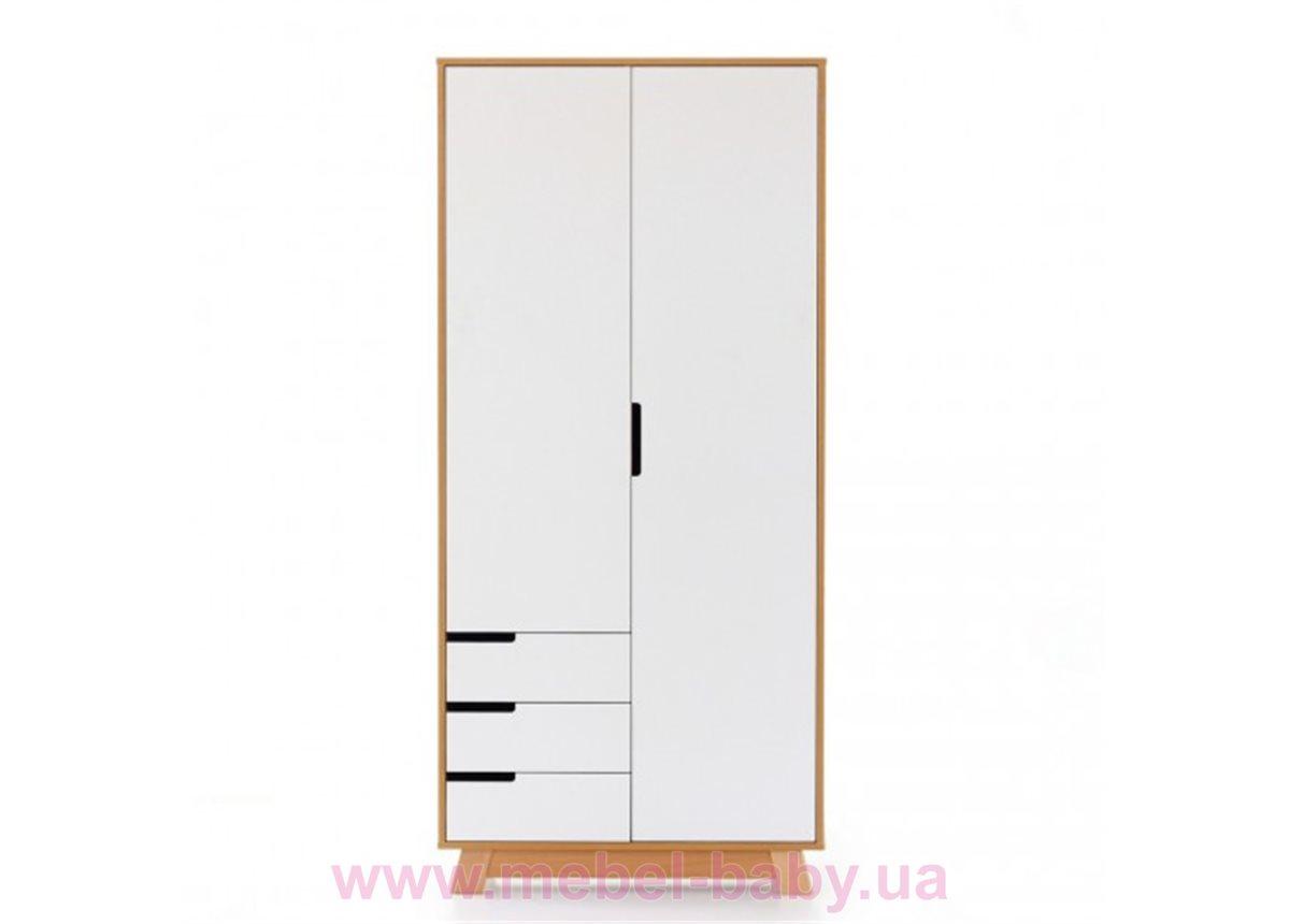 Шкаф 850 Манхэттен (с ящиками) Верес Бело-буковый