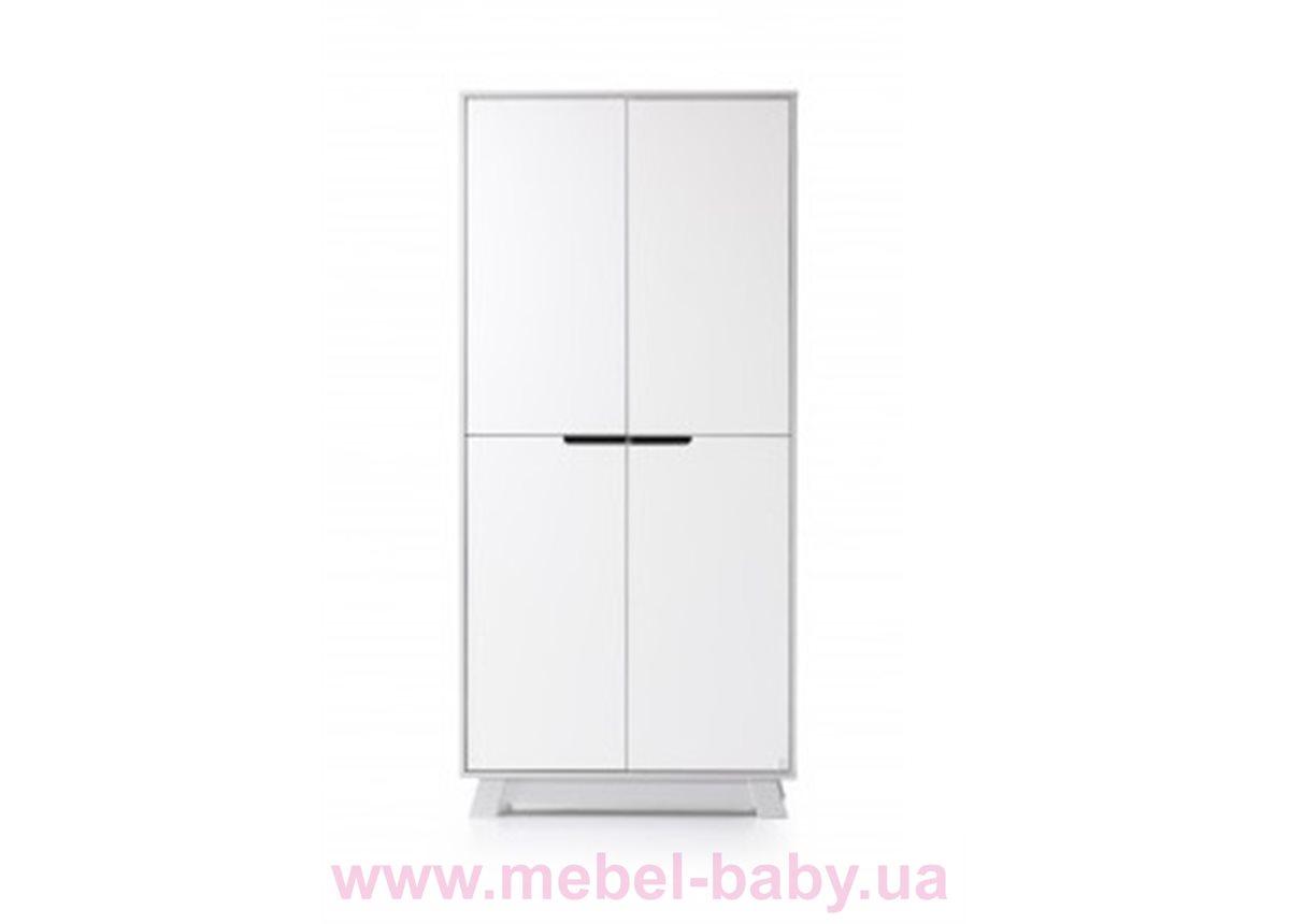 Шкаф 850 Манхэттен Верес Бело-серый