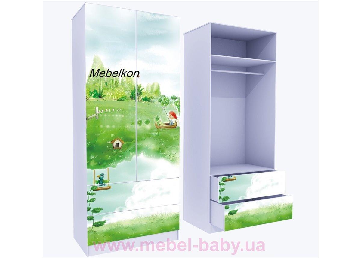 Шкаф с двумя ящиками верх для одежды Нежность 211x90x50