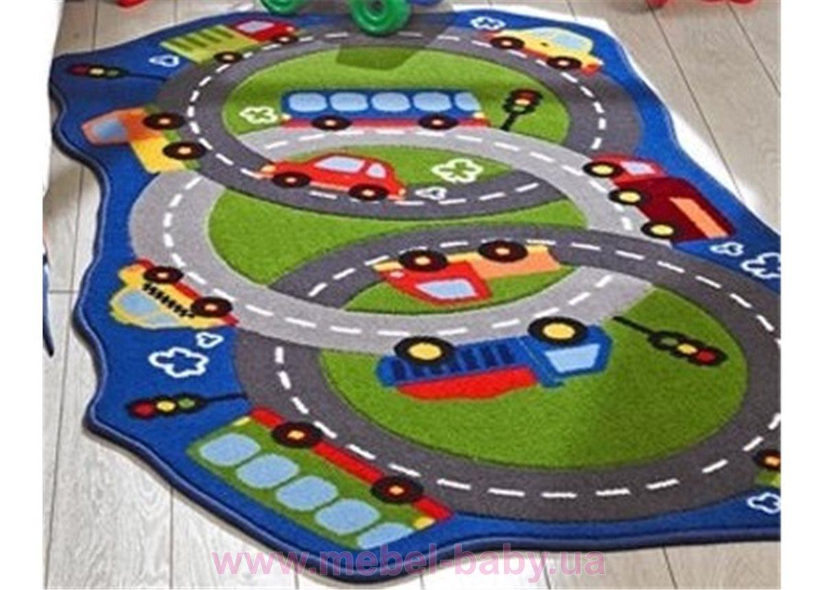 Ковер Confetti - Circle Track зеленый 100*165