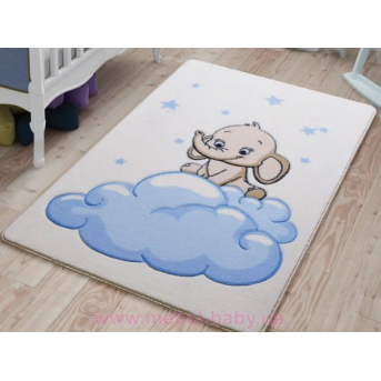Ковер Confetti - Baby Elephant 01 голубой 100*150