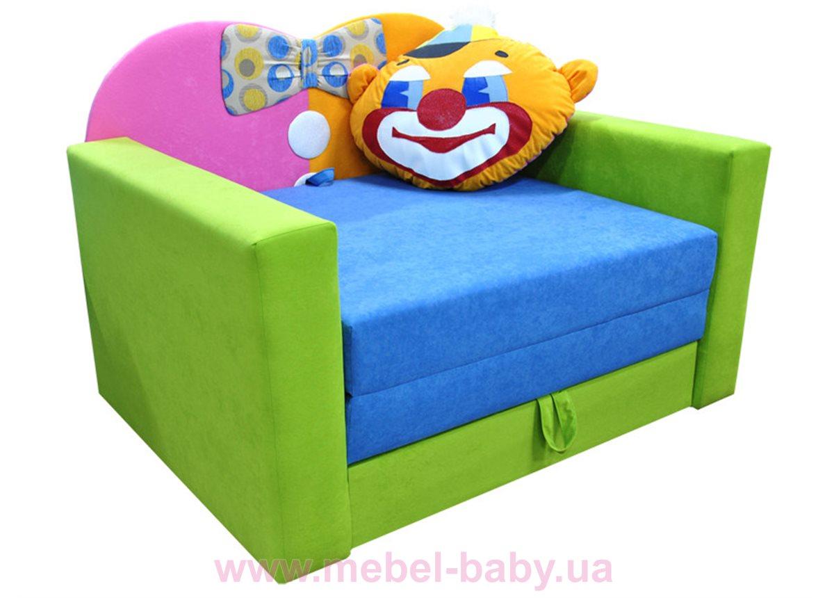 Диван большой детский раскладной малютка клоун Ribeka