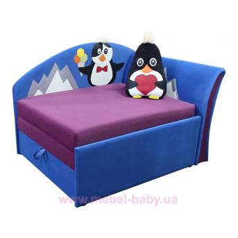 Диван угловой детский раскладной малютка пингвинчик Ribeka