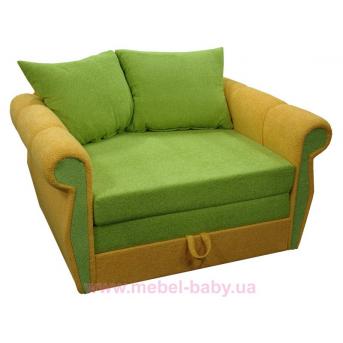 Диван классический прямой раскладной выкатной малютка классик  Ribeka зеленый