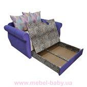 Диван классический прямой раскладной выкатной малютка классик  Ribeka фиолетовый