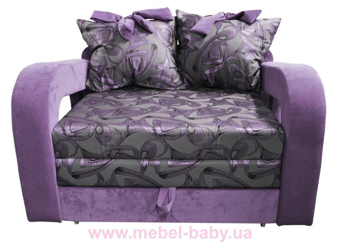 Диван красивая раскладная малютка барби с подлокотниками и бантами на подушках для девочки Ribeka