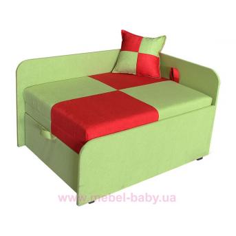 Диван детский угловой раскладной малютка мини Ribeka красно-зеленый