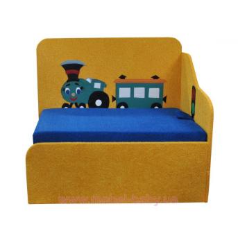 Диван детский угловой раскладной малютка паровозик мини-аппликация Ribeka