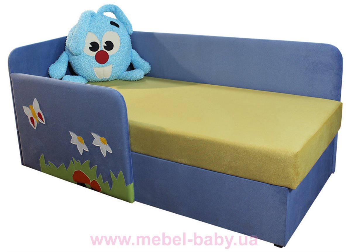 Детский угловой диванчик с бортиком смешарик крош Ribeka