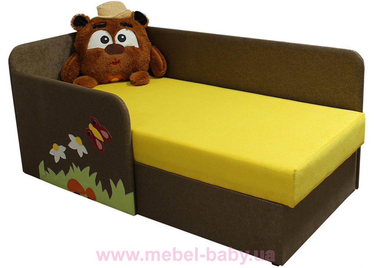 Детский угловой диванчик с бортиком смешарик копатыч Ribeka