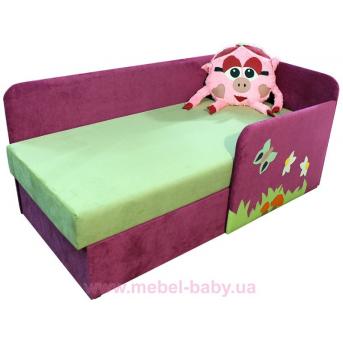 Детский угловой диванчик с бортиком смешарик нюша для девочки Ribeka