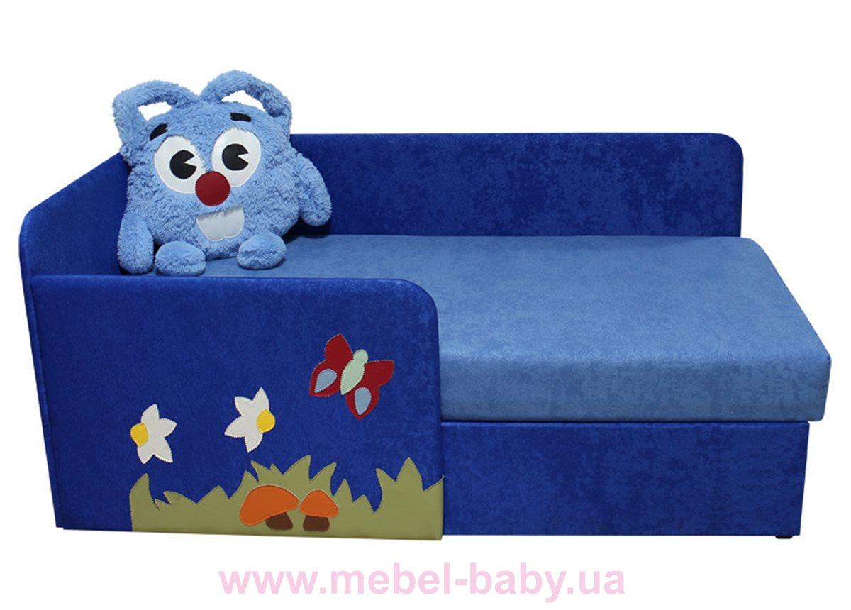 Детский угловой диванчик с бортиком смешарик крош Ribeka синий