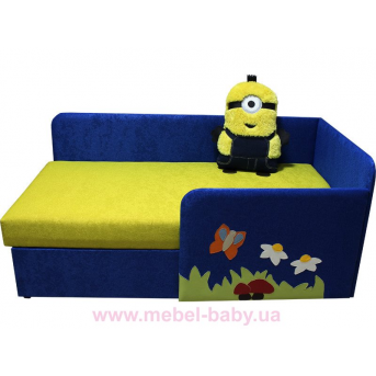 Детский угловой диванчик с бортиком миньончик Ribeka