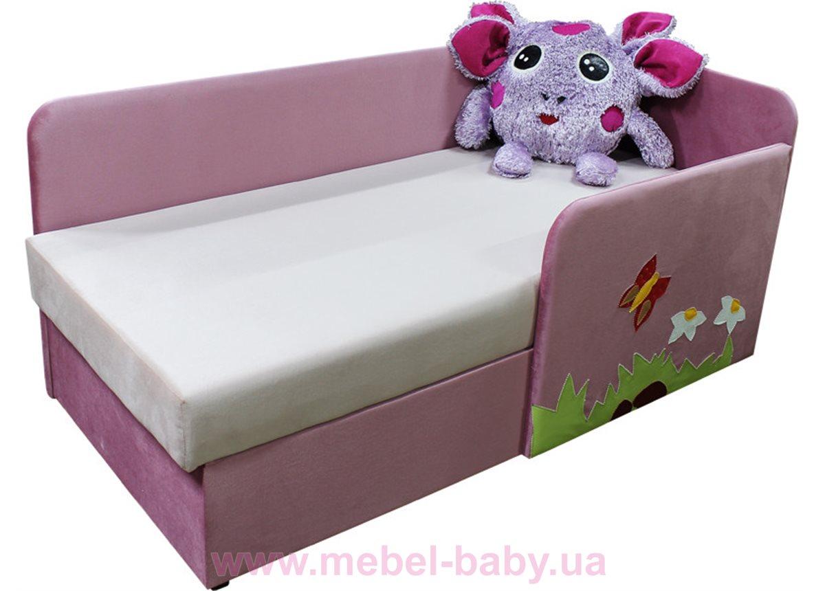 Детский угловой диванчик с бортиком лунтик Ribeka розовый