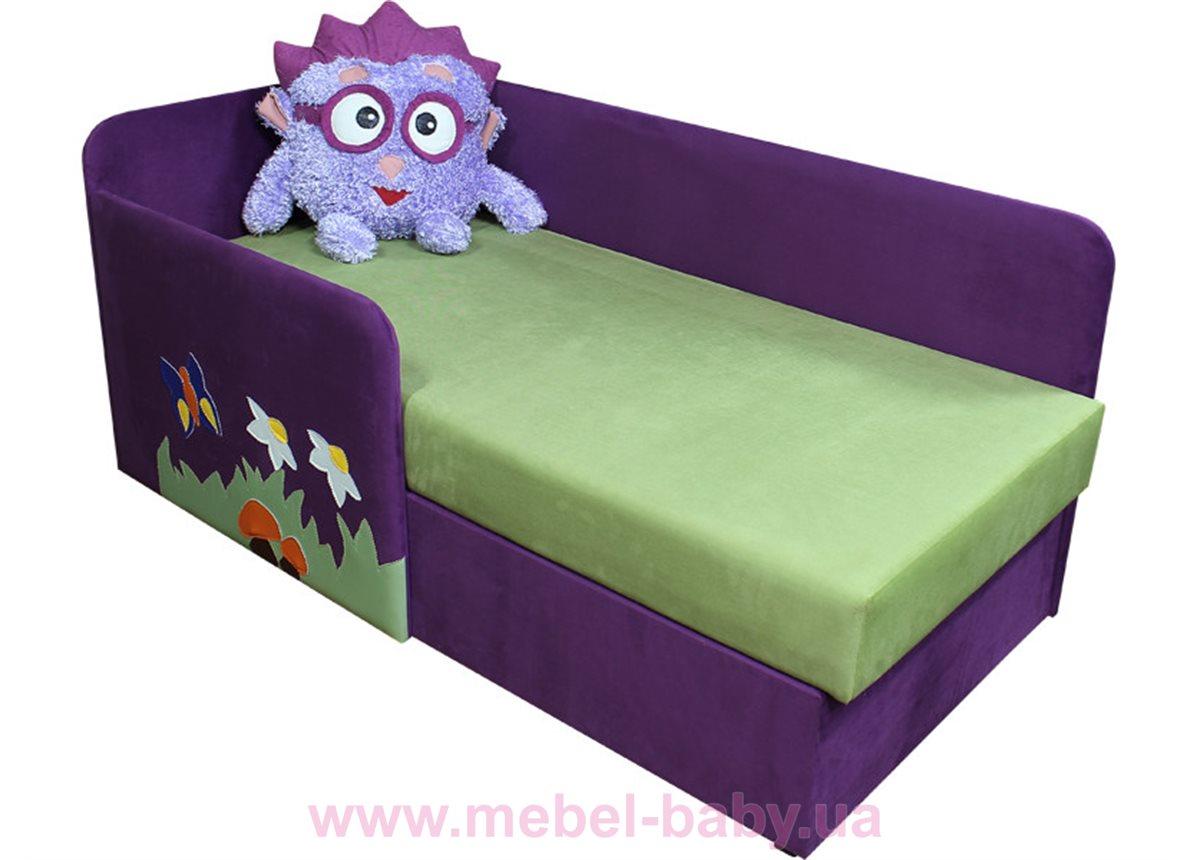Детский угловой диванчик с бортиком смешарик ёжик Ribeka