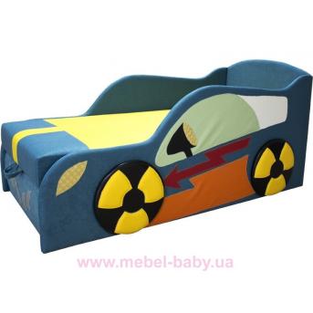 Детская диван-кроватка автомобильчик с нишей для белья Ribeka