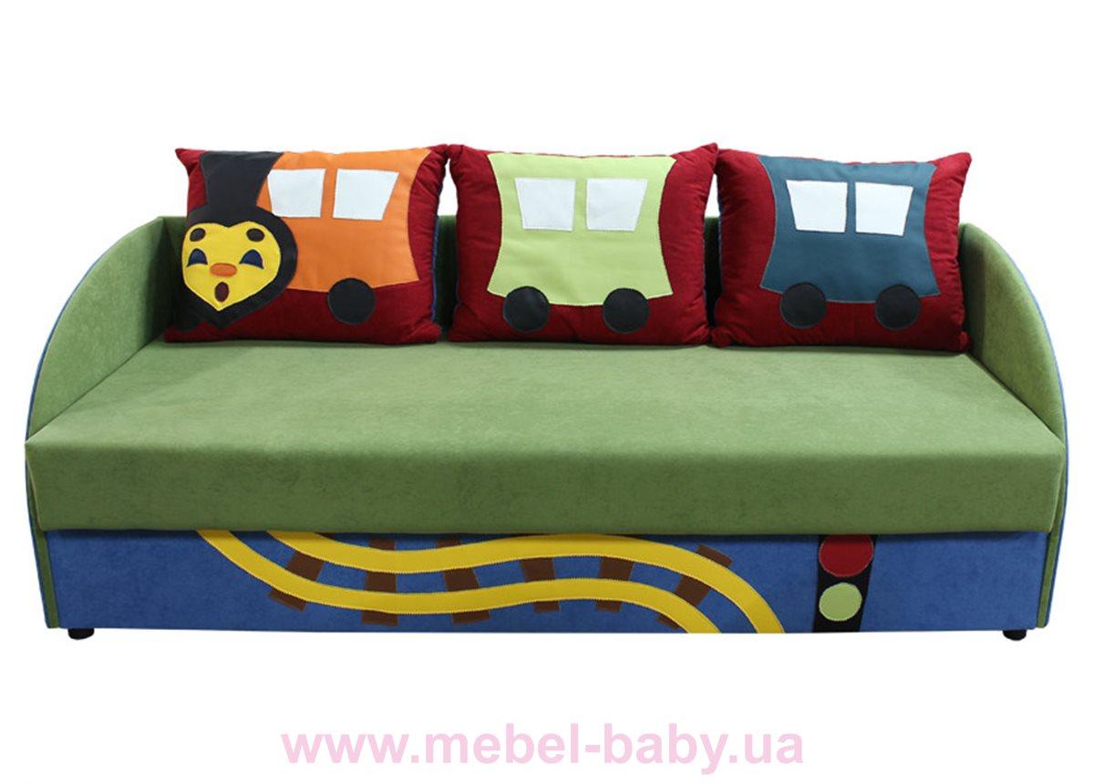 Детский диванчик с нишей и веселыми аппликациями мультик 5 Ribeka